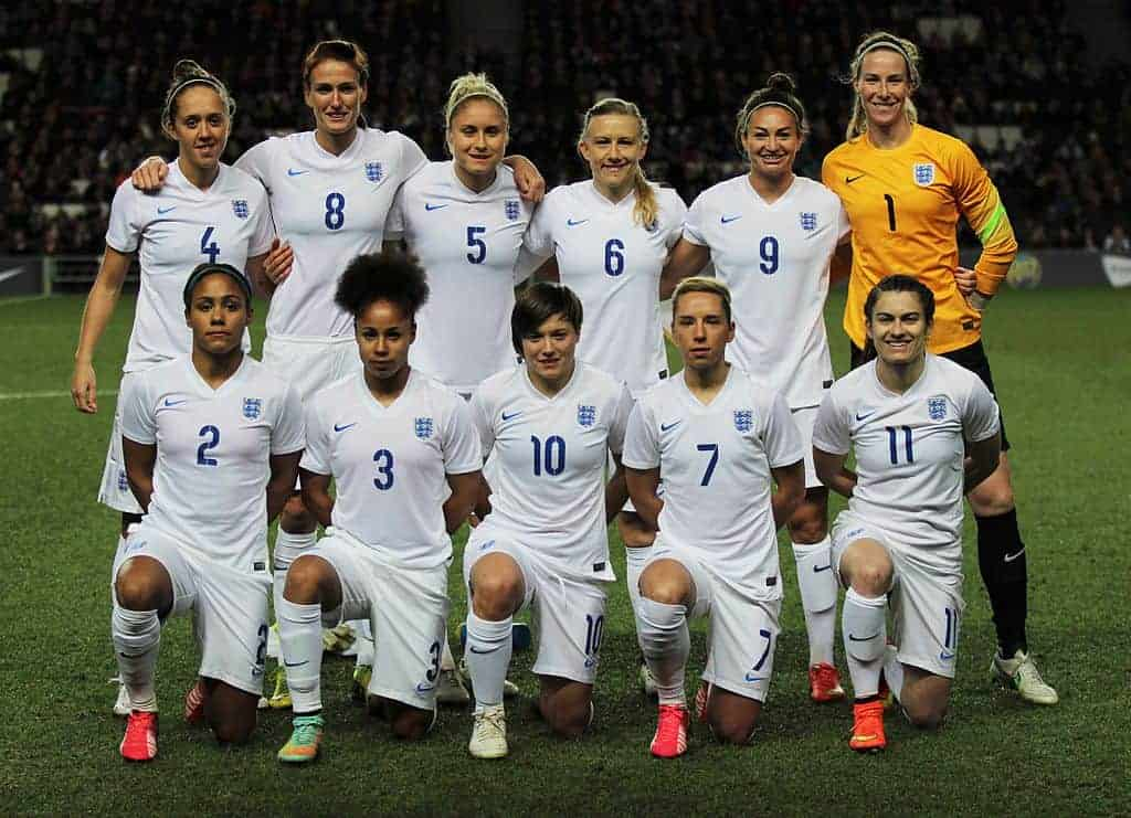 The England Women's football National Team in 2015