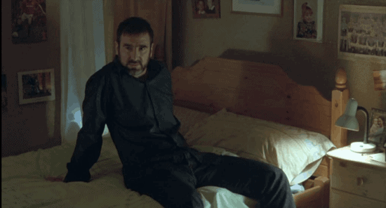 looking for eric review - cantona reclined on bed