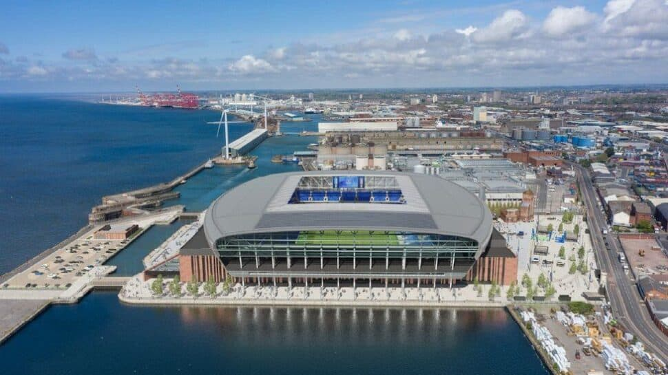 new everton stadium design on Liverpool waterfroont