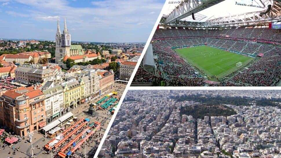 European cities & stadiums collage