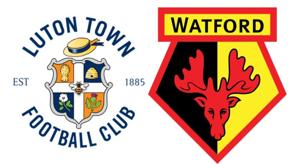 club crests Luton Town vs Watford rivalry