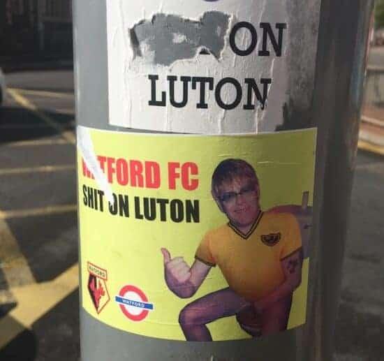 watford luton town rivalry elton john poster