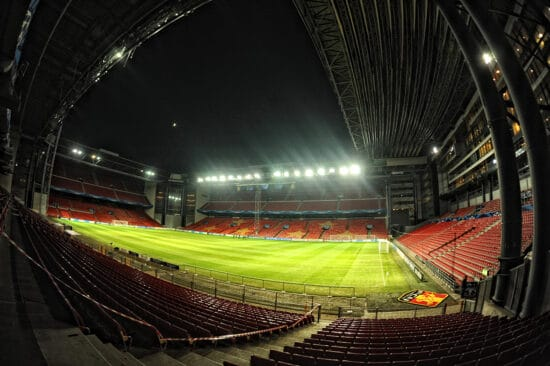 View of Euro 2020 venue Parken Stadium from the stands