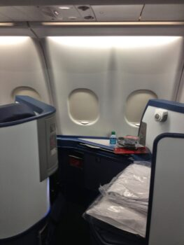 Delta Air Lines international business class seat travel hacking