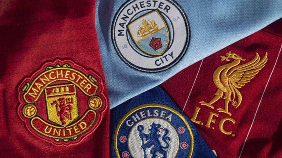 Premier League club crests title winners