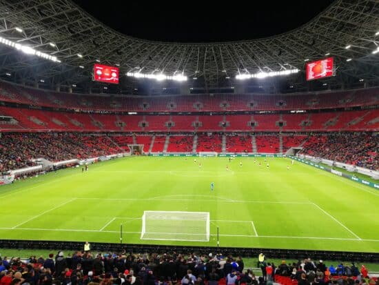 View of Euro 2020 venue Puskas Arena from inside the stadium