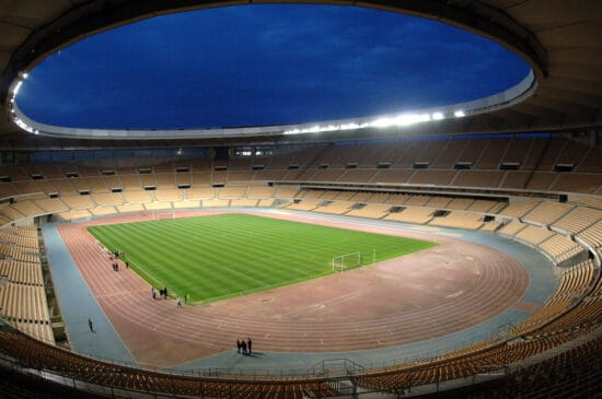 View of Euro 2020 venue Estadio La Cartuja from the stands