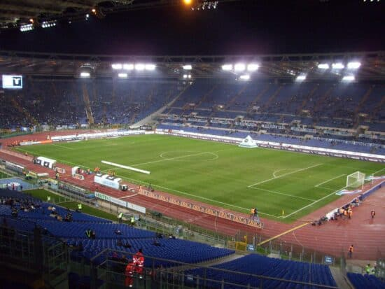 View of Euro 2020 venue Stadio Olimpico from the stands