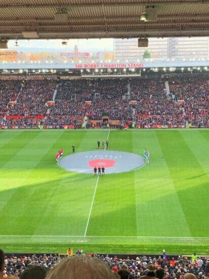 manchester united tickets and hospitality view of pitch