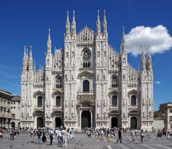 Outside view of the Milan Cathedral
