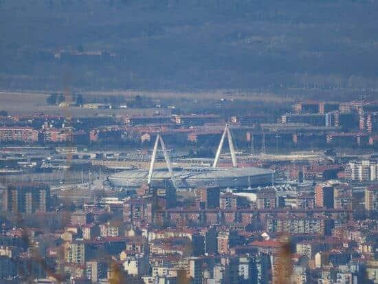 Arial view of Juventus Stadium