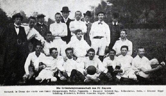 Bayern Munich team picture from 1900