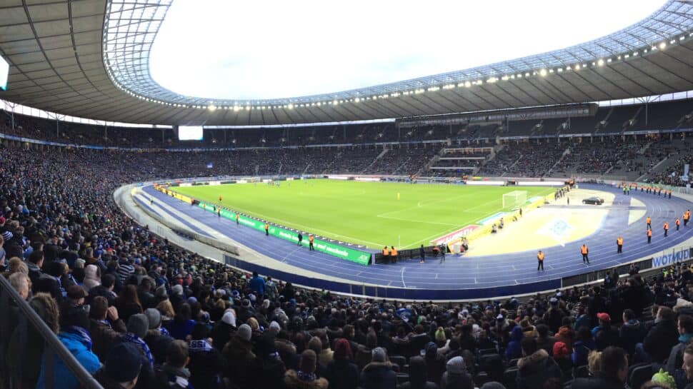 Corner view from stands of Hertha Berlin