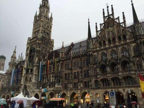 Marienplatz in the center of Munich, Bavaria.