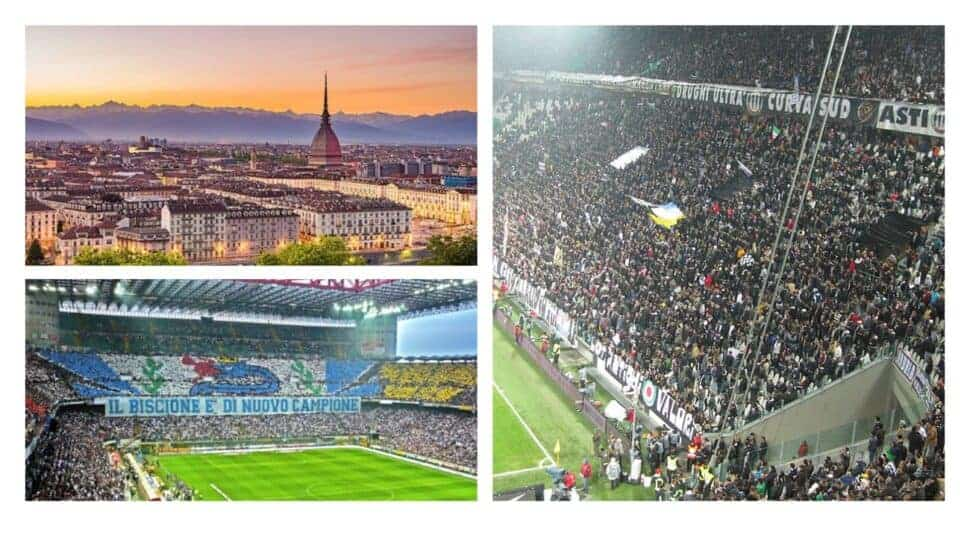 italian serie a tickets and hospitality photo collage