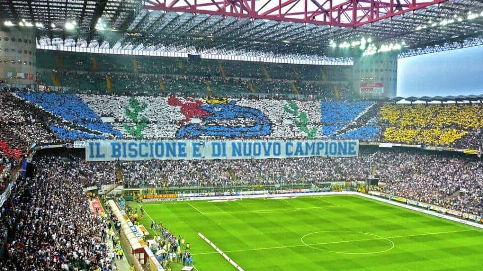 Inter fans before the Derby della Madonnina vs AC Milan.