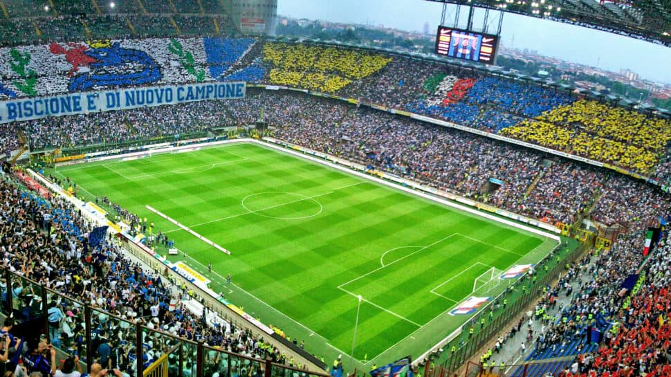 Milan's San Siro stadium during an Inter Milan game