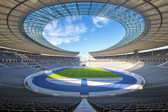 interior panorama of hertha berlin olympic stadium