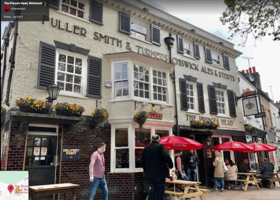 The Prince's Head Pub in Richmond, London, England.