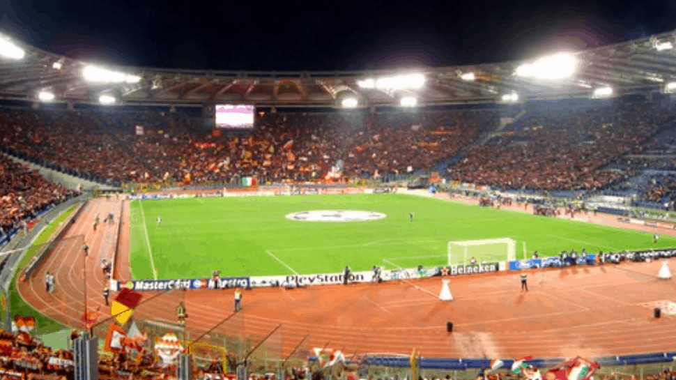 view of field during as roma game