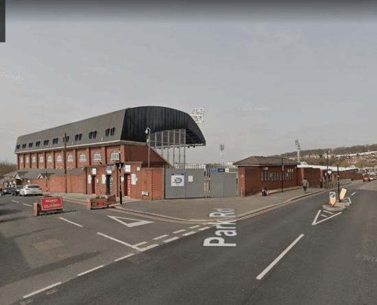 Exterior of Selhurst Park football ground from Google Maps.