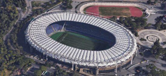 aerial view of stadio olimpico roma