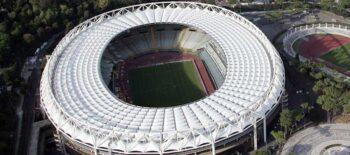 stadio olimpico aerial view as roma stadium