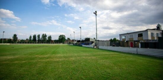 View of Wadham Lodge, home of Walthamstow FC in Greater London.