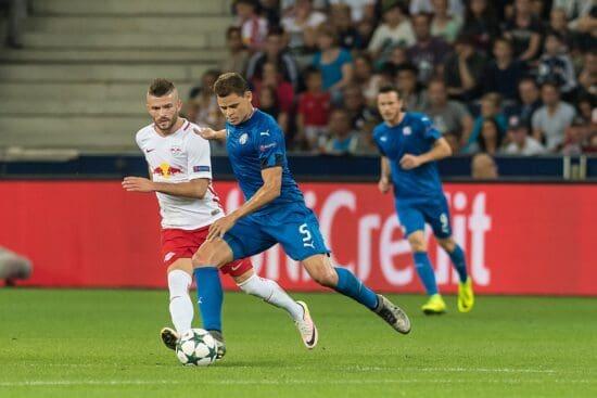 Game action of Dinamo Zagreb