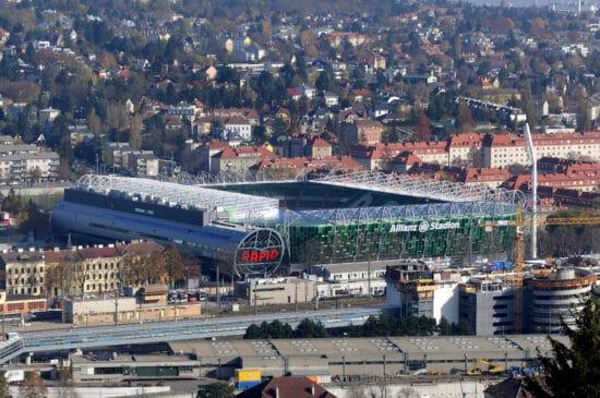 view of Allianz Stadium and surrounding buildings