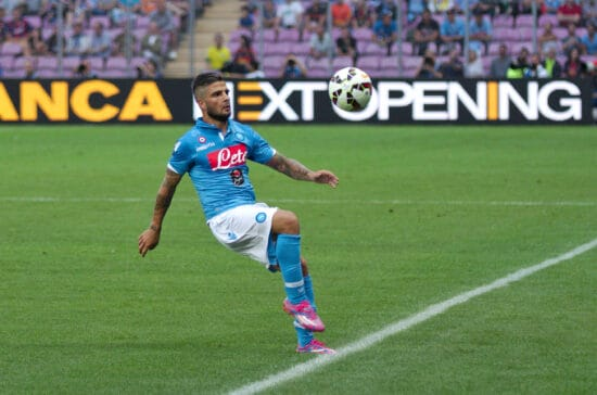 Lorenzo Insigne in action