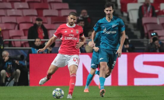 action during the 2019-20 Champions League