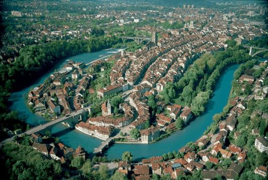 Aerial photo of Bern, Switzerland