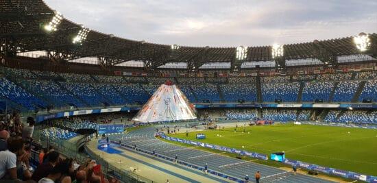 Opening ceremonies in Naples