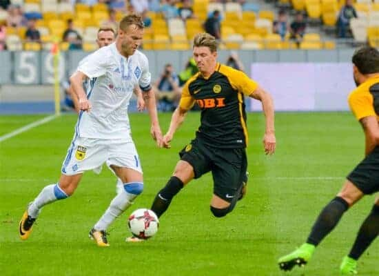 game action from Young Boys Champions League game