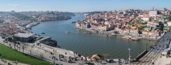 Ariel view of Porto Portugal
