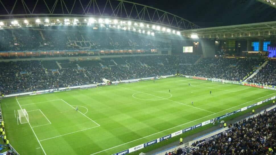 Panorama of stadium Porto game
