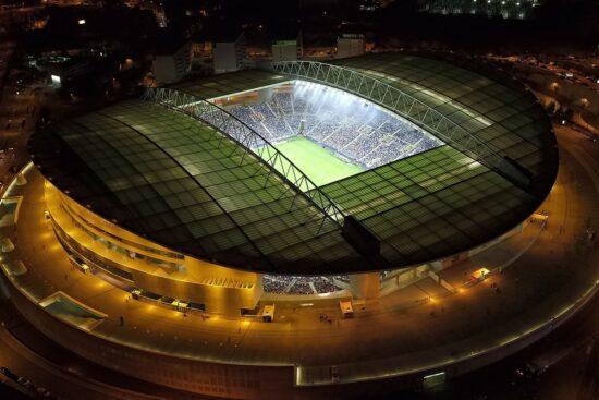 Aerial view of Porto's stadium