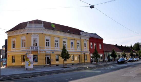 colorful buildings in Murska Sobota