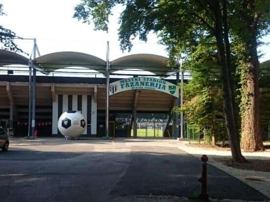 outside of Fazanerija Stadium