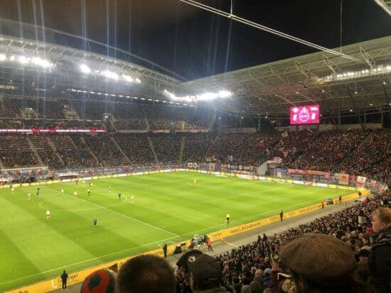 view of stands at Red Bull Arena in Germany