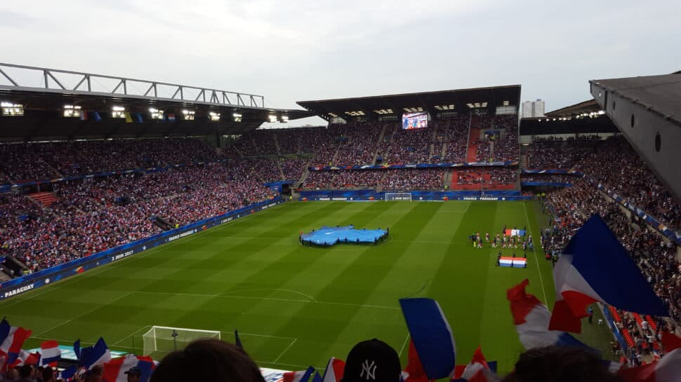 pregame at Roazhon Park in Rennes