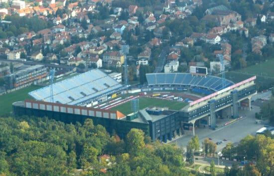 arial view of Stadion Maksimir