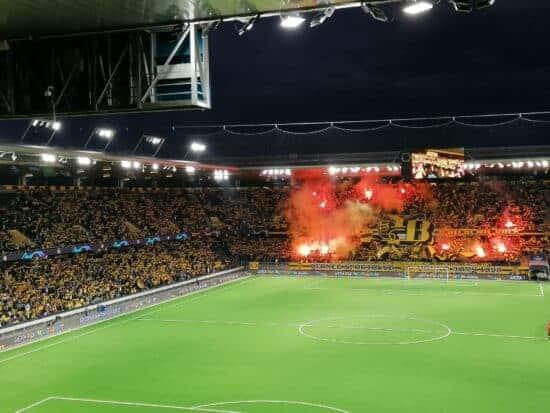 end zone view of Wankdorf Stadium in Bern