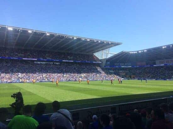 view from Block 207 at Cardiff City Stadium