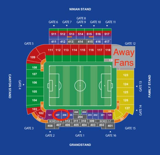 Cardiff City FC seating chart
