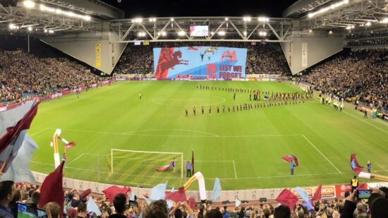 pre-game at Vitesse's GelreDome
