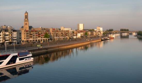 view of the river running through Arnhem