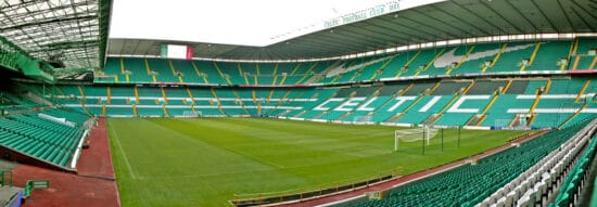 panoramic view of celtic park in gglasgow