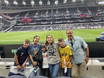 happy family at Tottenham Hotspur lower level seats